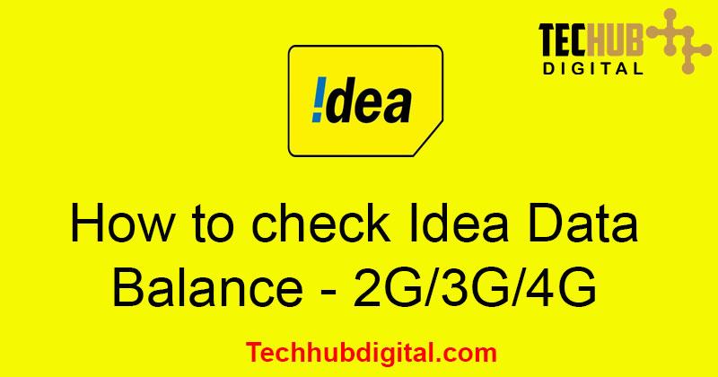How to check Idea Data Balance