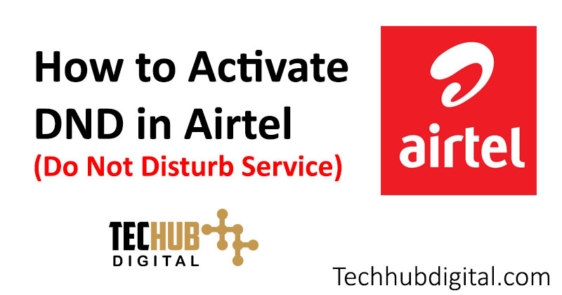 how to activate dnd in airtel