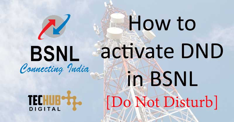 How to activate DND in BSNL