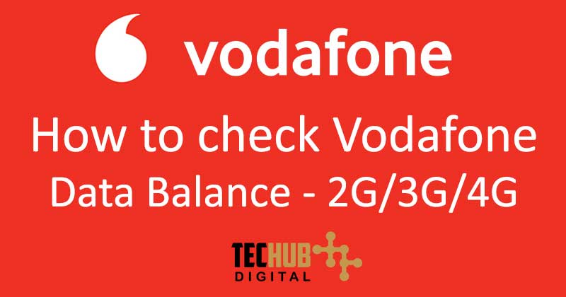 How to check Vodafone Data Balance